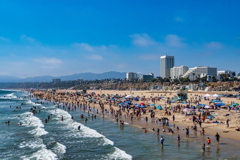 Beach in Santa Monica, California royalty free stock photo