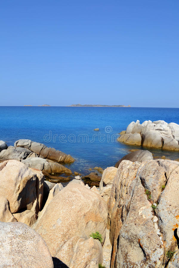 Beach in Sardinia, Italy stock images