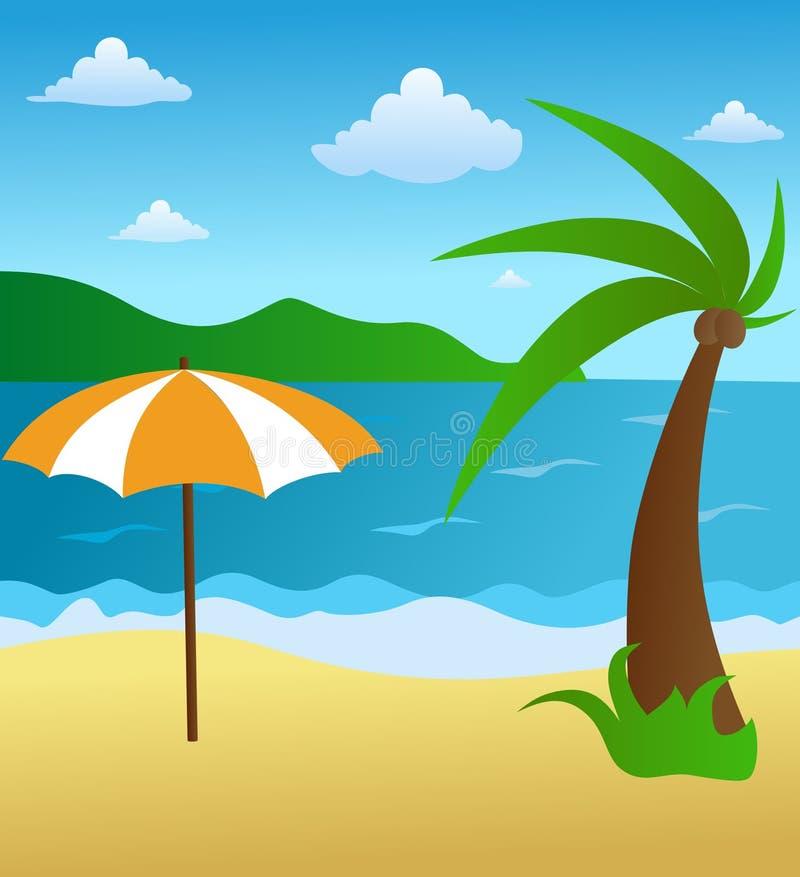 Download Beach scene stock vector. Illustration of vector, scene - 24008771