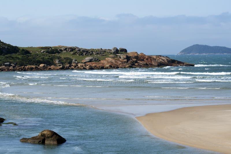Download Beach scene stock photo. Image of horizontal, santa, clouds - 26504518