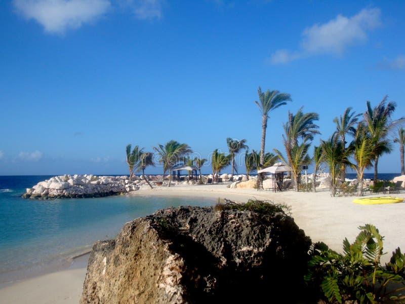 Beach scene in Curacao stock photos
