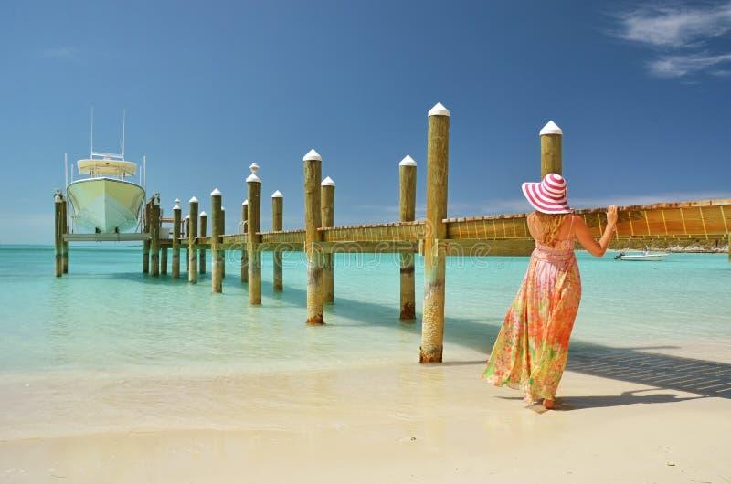 Beach scene. Exuma, Bahamas. Beach scene. Great Exuma, Bahamas stock images