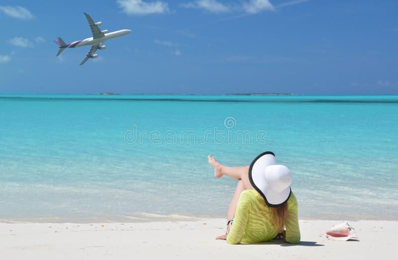 Beach scene, Exuma, Bahamas. Beach scene, Great Exuma, Bahamas royalty free stock photo