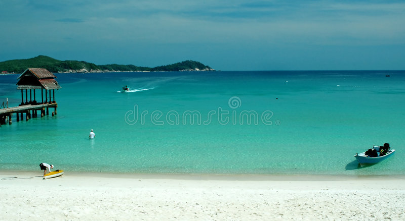 Beach scenery royalty free stock photos