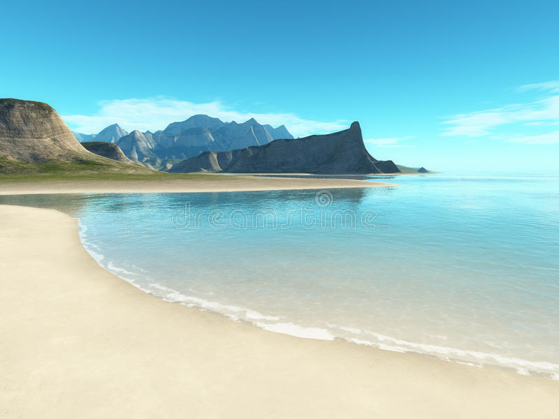 Beach Scenery Background Royalty Free Stock Photography