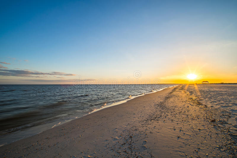Beach scenes on west boulevard in pass christian and henderson p stock image