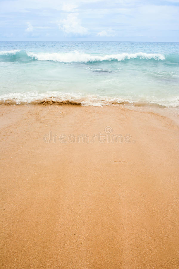 Download Beach and the Sea stock photo. Image of peaceful, serene - 18893044
