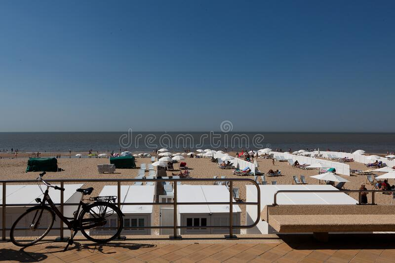 Beach sea Blankenberge, Belgium stock photo