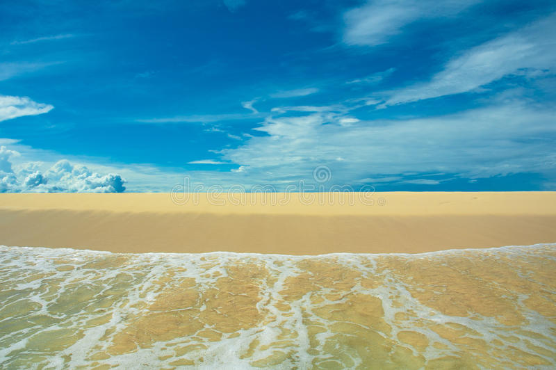 Download Beach, sea and blue sky stock photo. Image of surf, panoramic - 15855026