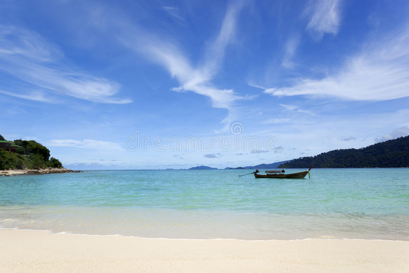 Download Beach And Sea With Blue Sky Royalty Free Stock Photography - Image: 25242507