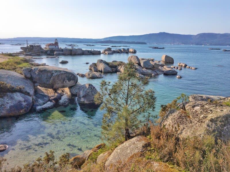 Beach and sea on the Galician coast royalty free stock image