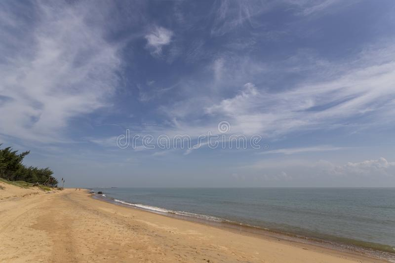 Beach and sea in haikou, hainan, china. Asia royalty free stock image