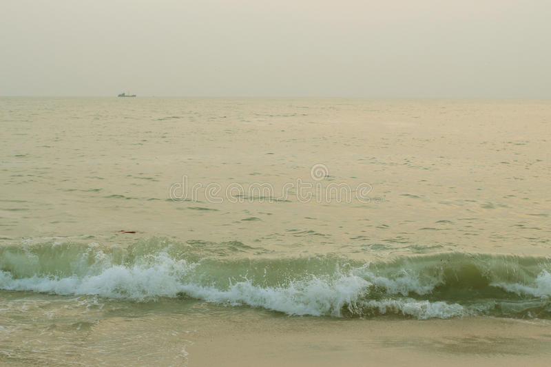 Beach and sea in landscape royalty free stock images