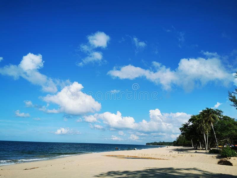 Beach by the sea stock image