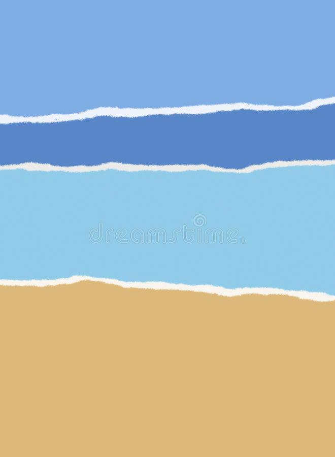 Download Beach, Sea And Sky Summer Background Stock Illustration - Image: 25936534