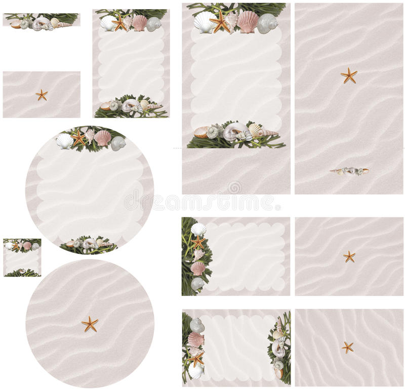 Beach Theme Card Stock: Wedding Beach Stock Illustrations