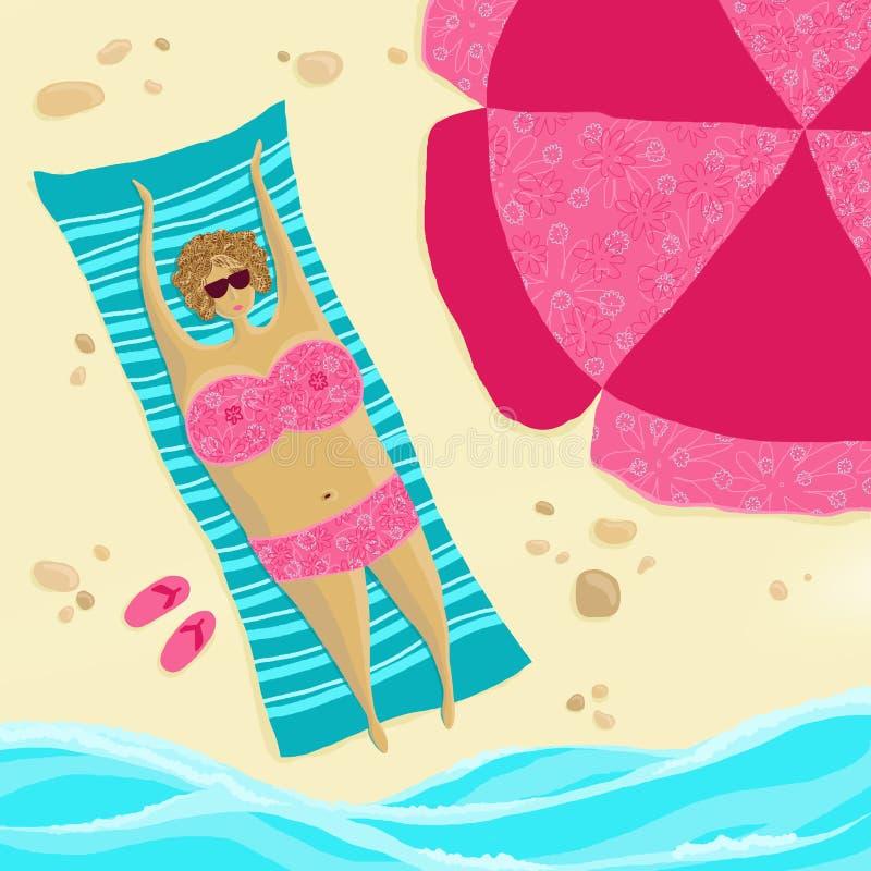 Download Beach season are open! stock illustration. Image of design - 25438338