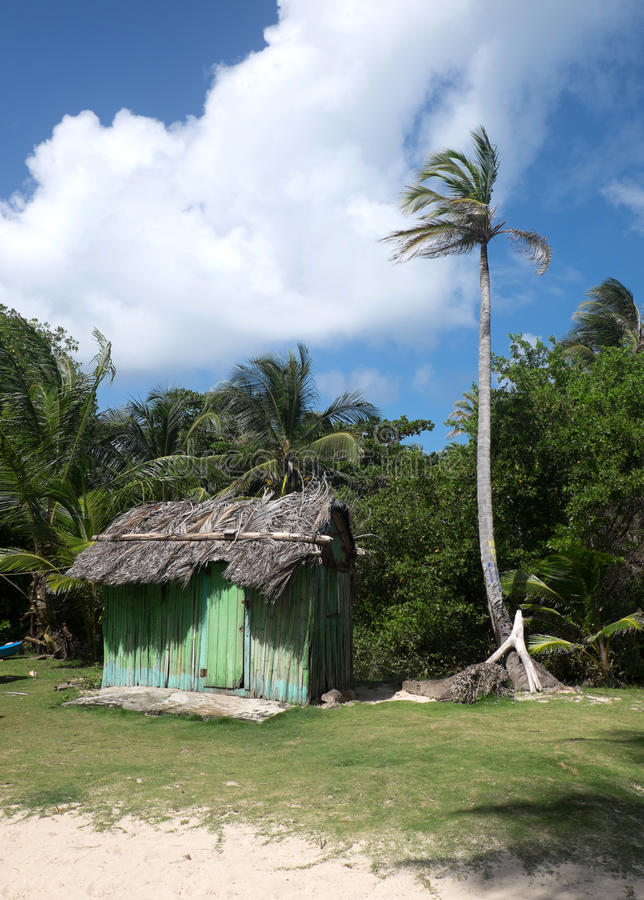 A beach shack in Nicaragua royalty free stock photos