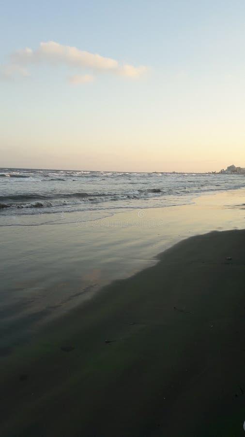 Beach. Shallow beach in Larnaca, Cyprus royalty free stock image