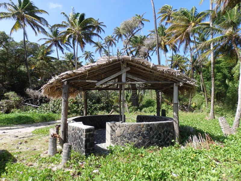 Download A Beach Shelter At Spring Bay On Bequia. Stock Image - Image: 36070141