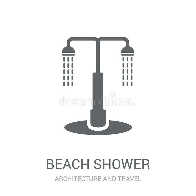 beach Shower icon. Trendy beach Shower logo concept on white background from Architecture and Travel collection vector illustration