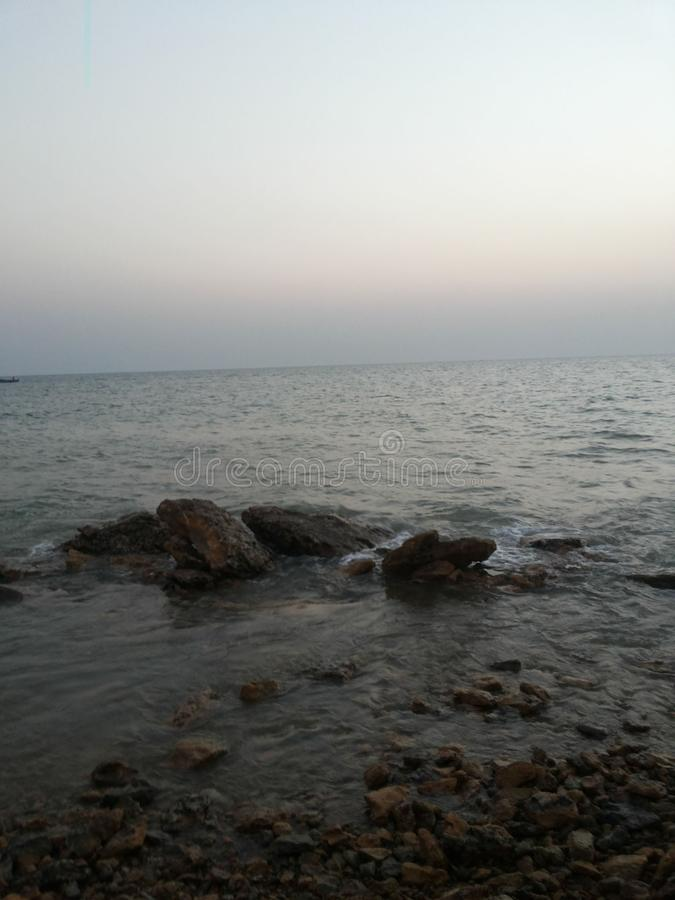 Beach side view in Gujarat India. Beaches in india. Evening view of beach. Travel, travelphotography, nature, travelgram, love, photooftheday, instatravel stock image