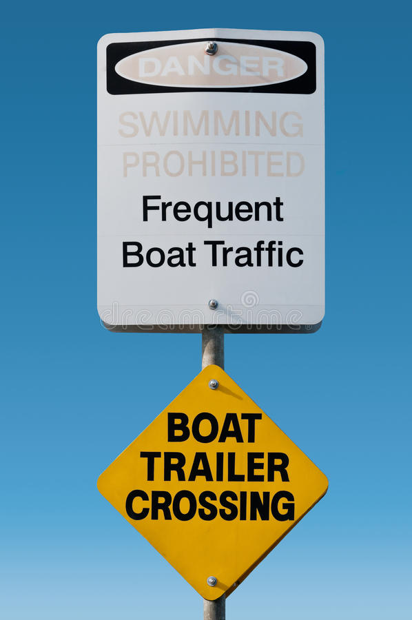Download Beach Sign stock image. Image of danger, marine, cross - 24030567