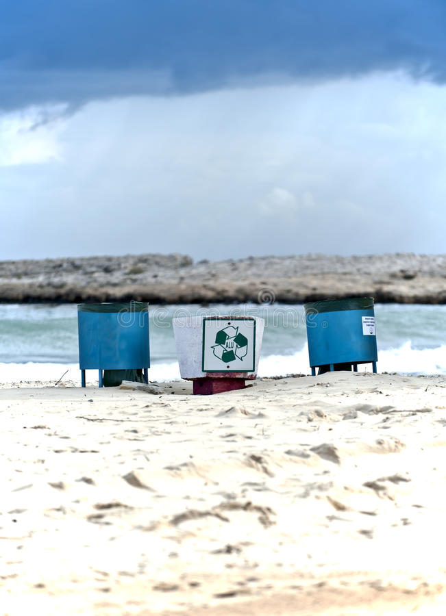 Beach Signs In Cyprus Royalty Free Stock Image