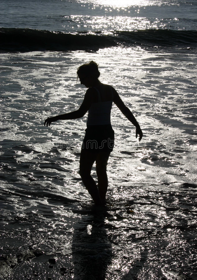 Beach Silhouette stock photography
