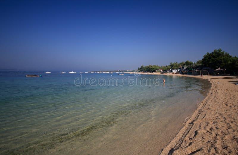 Beach of Simuni - island of Pag royalty free stock image