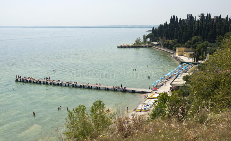 Download Beach At Sirmione Royalty Free Stock Photos - Image: 26086948