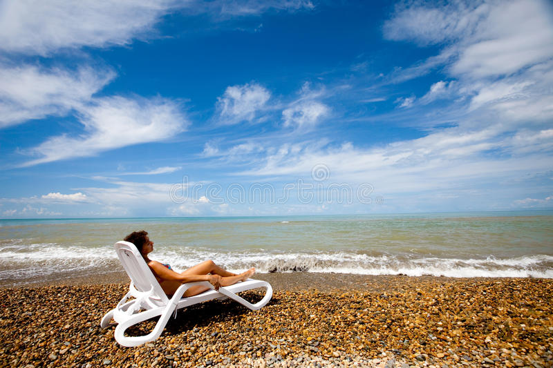 Download Beach and sky stock photo. Image of resort, relaxation - 9903442