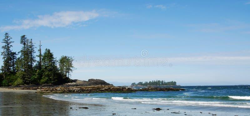 Beach and sky panorama stock photos