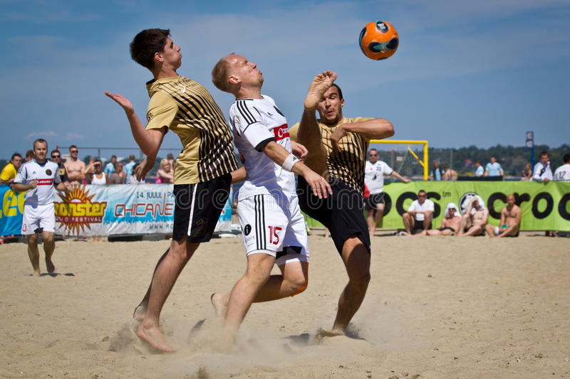 Beach soccer royalty free stock images