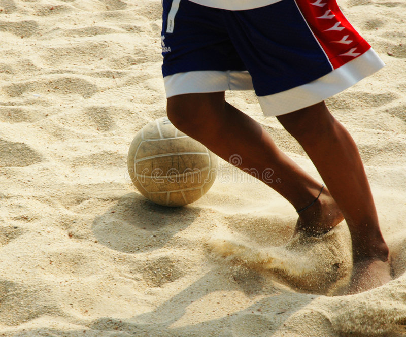 Download Beach Soccer stock photo. Image of move, sand, beach, dribble - 89618