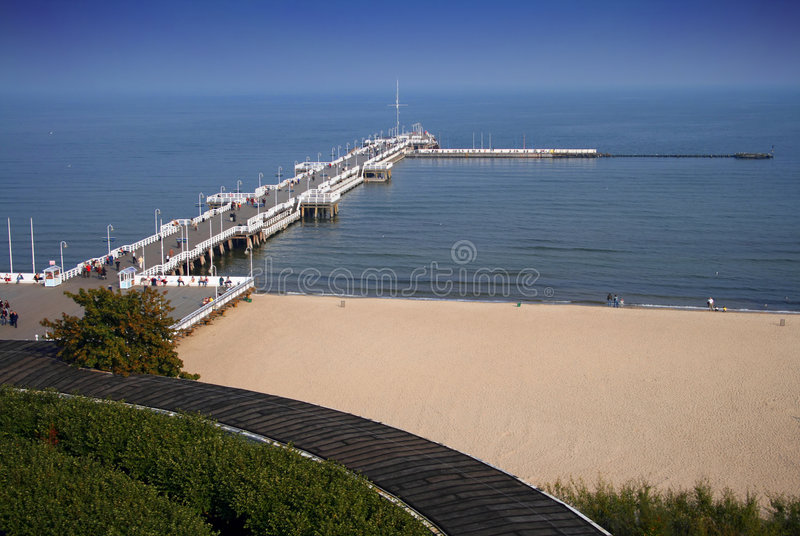The Beach In Sopot Stock Image