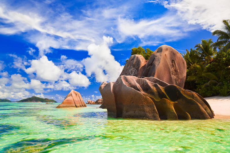 Download Beach Source D'Argent At Seychelles Stock Image - Image: 22018891
