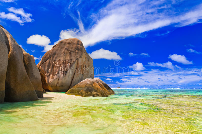 Download Beach Source D'Argent At Seychelles Stock Image - Image: 24906527