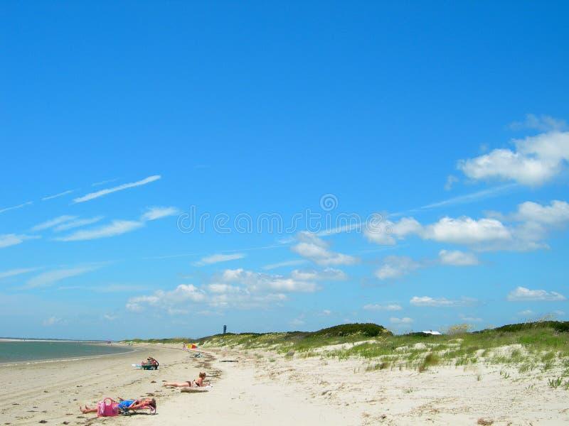 Beach in south carolina america. Beach scene in south carolina united states royalty free stock photo