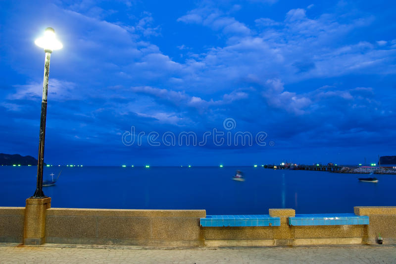Beach in south of Thailand at twilight stock images