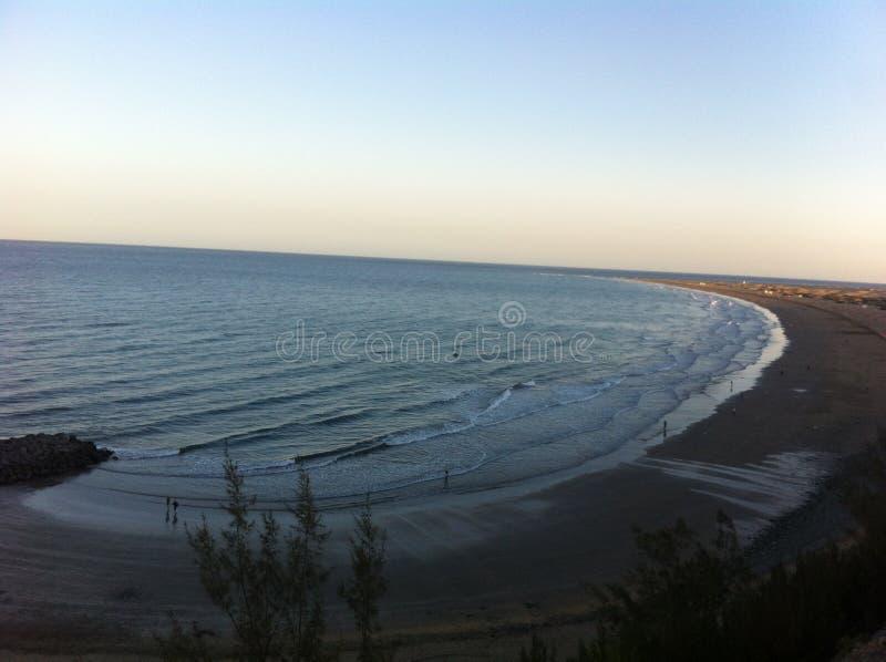 Beach In Spain Gran Canaria Sea royalty free stock photography