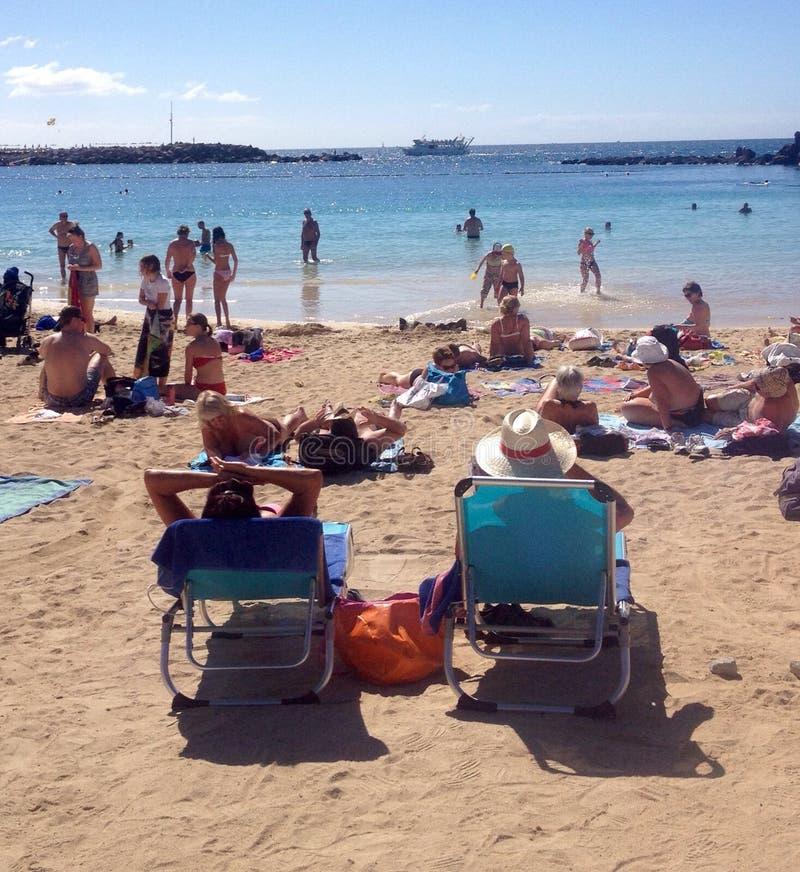 Beach in Spanish Canary Island royalty free stock photos