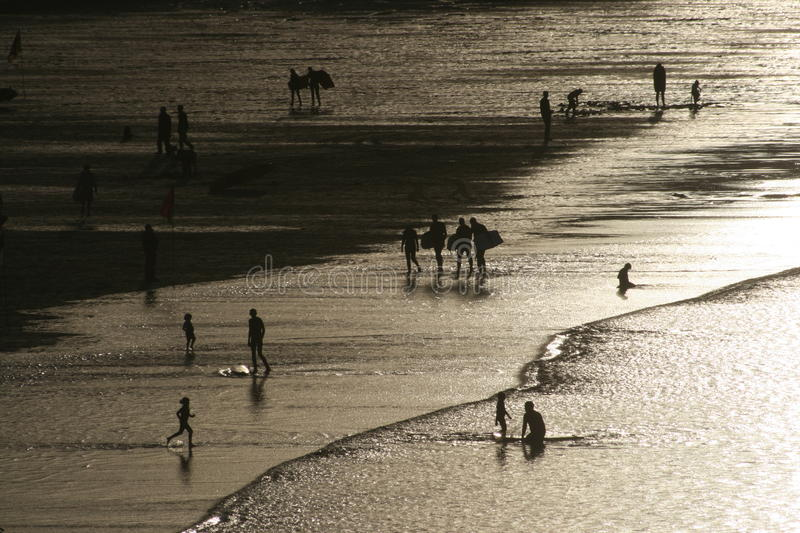 Beach at St. Ives stock images