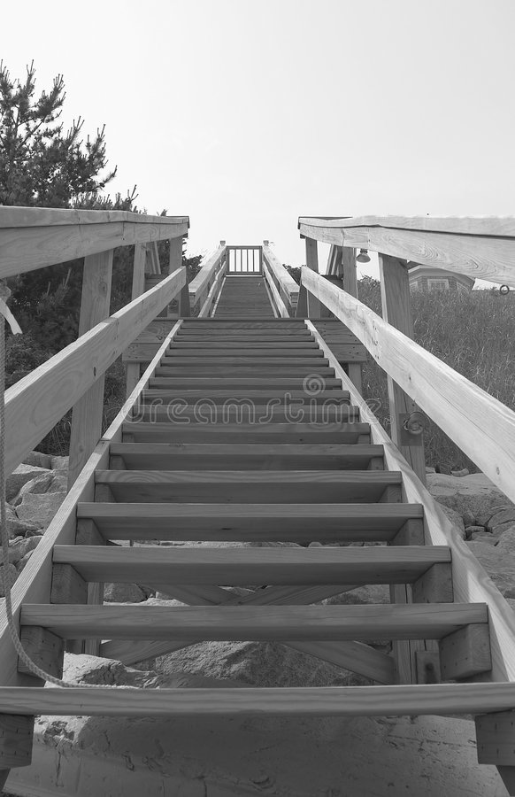 Beach Stairs 1 royalty free stock photos