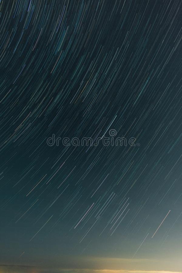 Beach Star Trails In Melbourne royalty free stock images