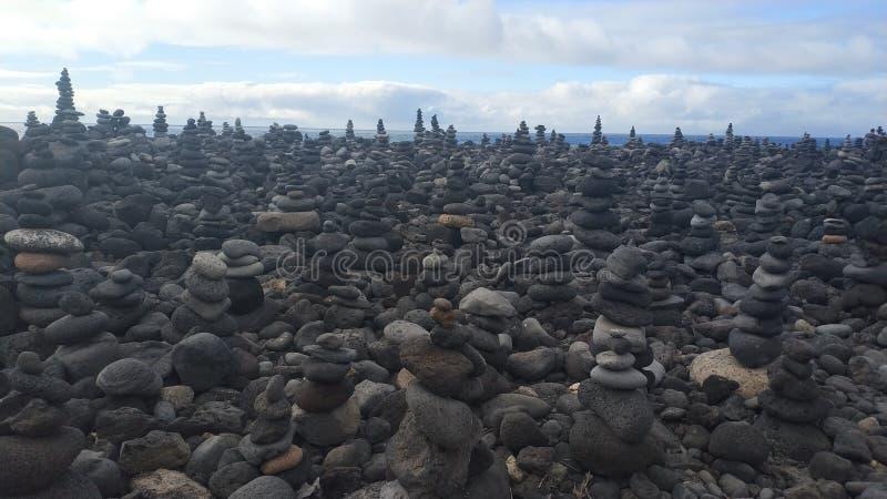 Beach Stones meditation landscape Sky royalty free stock photos