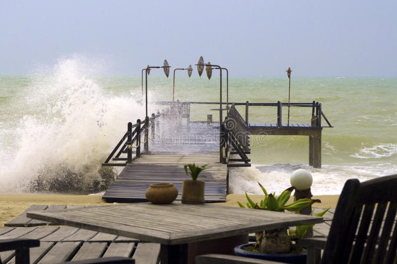Download Beach stormy 2 stock photo. Image of green, crash, apprehensive - 13522156