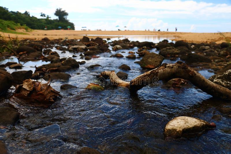Beach Stream stock photos