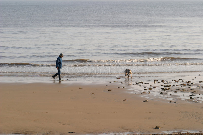 Download Beach Stroll stock image. Image of spring, lapping, england - 101003