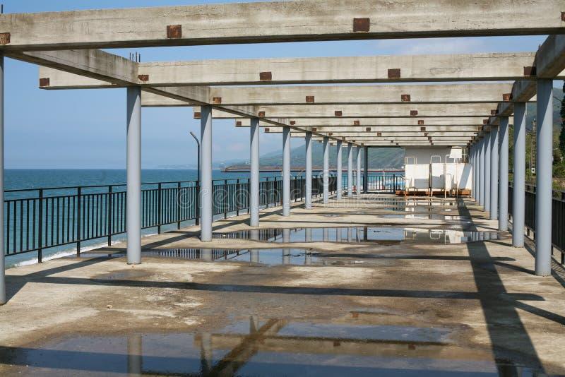 Beach structure on seacoast